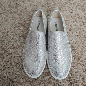 Shoes - Silver Slip on Sneaker